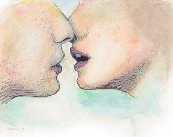 """8x10 Print - """"Kiss"""""""