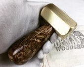 Brass hammer with burl or exotic wood handle, handmade one of a kind