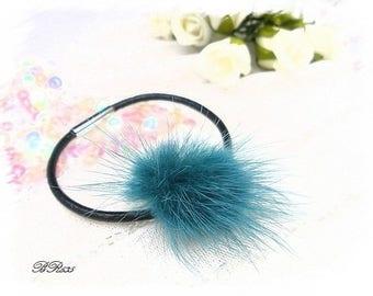 black fur leather bracelet * BR635