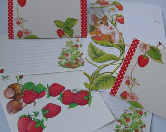 Vintage Stationery Colletion - Strawberries and Mice