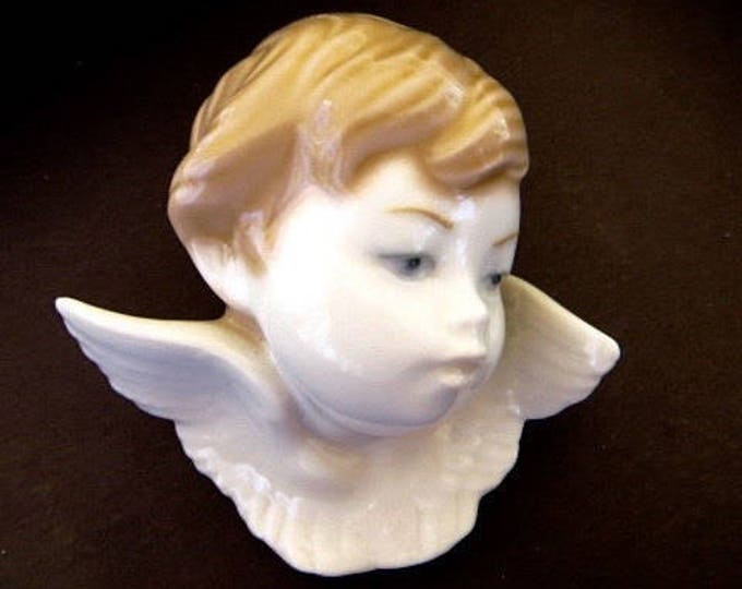 Lladro Cherub, Vintage Angel Lladro, Celestial Collectibles, Guardian Angel, Baby Gift, Sympathy Gift, Vintage