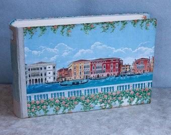 Venice wedding guest book, venice vacation photo album, scrapbook for Italy photos, OOAK A4, ready to ship