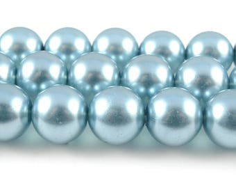 Teal Translucent Round Beads, 10mm - 1 strand (FP18)