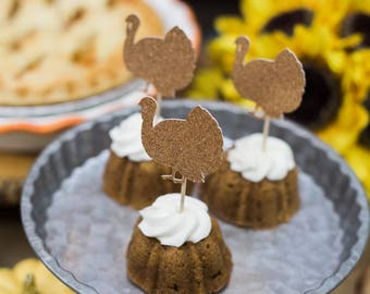 Thanksgiving Turkey Cupcake Toppers (12)