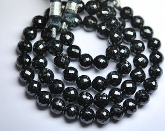 1300 pieces,BLACK SPINEL Finest Quality Micro Faceted Round Rondells,8-9mm