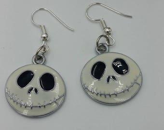 Nightmare Before Christmas Earrings Studs Halloween Jack
