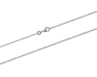Chain necklace in Silver 925/000 1.3 mm thick to add a pendant