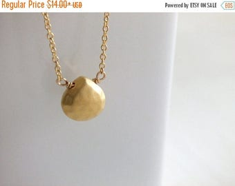 Clearance 20% OFF Sale Gold Faceted Briolette Jewelry Necklace, 16K Gold Plated, Gold Filled, Gift for Her