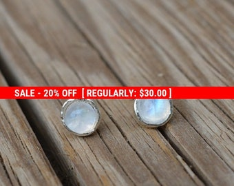 SALE 20% OFF moonstone earrings,moonstone stud earrings,sterling silver earrings,stud earring stone,moonstone studs,gemstone earrings