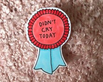 cute hand-drawn ribbon sticker