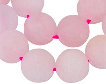 Set of 20 beads quartz Pink 8 mm round