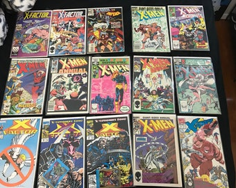 VINTAGE Lot Of 177 X-Men Marvel Comic Books Cartoons Wolverine Superheroes
