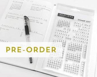 STMP-4X6-010 PRE-ORDER - Calendar Clear Stamp Kit for your Journal or Planner