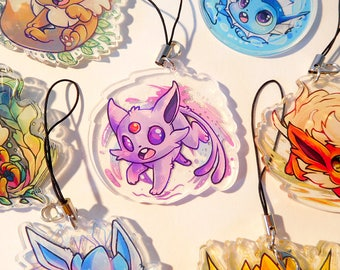 2 inch doubled sided acrylic Espeon Charm