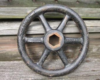 9 in large valve handle cast iron metal vintage craft art supply