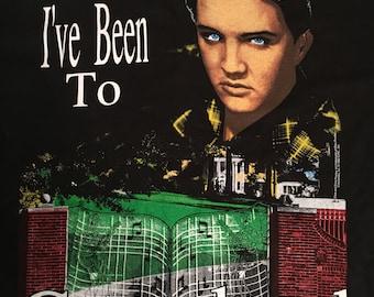 Vintage 1992 Black I've Been to Graceland Elvis Tee Shirt Size Large L Rock n Roll Music Rocker T Memphis Tennessee Elvis Presley