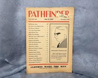 Vintage Magazine - Pathfinder Digest of World Affairs - Great Depression Magazine Politics Old Newspaper 1932 - US History Senate Congress