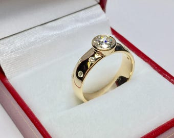 Vintage 1950's 1.05CT Engagement Ring  l 14KT Yellow Gold Diamond Ring l Engagament Ring l Wedding Ring