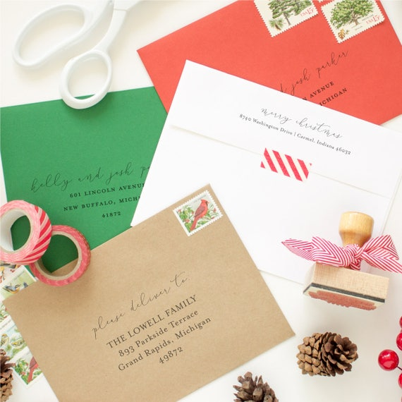 Return Address and Mailing Address Printing for your Christmas Cards