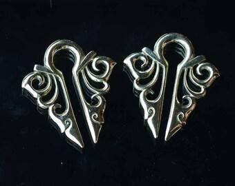 Brass ear wights   body jewelry, bali styles floral 2