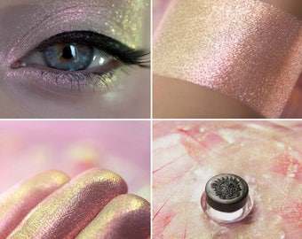 Eyeshadow: Flamingo's Teardrop - Alchemy. Magical pink-gold eyeshadow by SIGIL inspired.