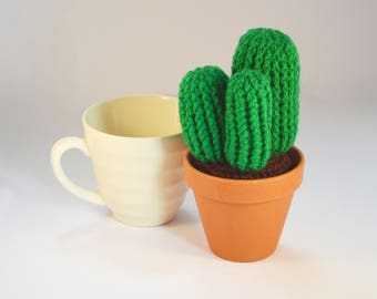 Crocheted Amigurumi Cactus  Medium Green