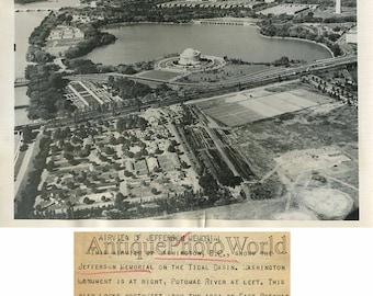 Jefferson Memorial Washington DC aerial view 1945