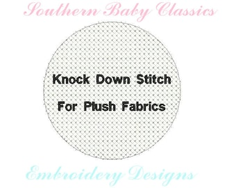 Circle Knock Down Stitch for Layering Embroidery on Plush Fabrics Design File for Embroidery Machine Instant Download Layer Towels Blankets