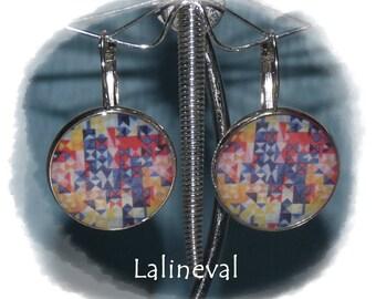 """""""Geometric"""" Silver Stud Earrings"""