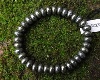 Men's Natural Pyrite - Therapeutic Quality Gemstone Energy Bracelet for Healing 5 x 10