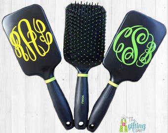 Monogrammed Hairbrush, Personalized Hairbrush, Paddle Brush, Cushioned Hairbrush, Monogram Brush, Hair Accessory, Smoothing Brush