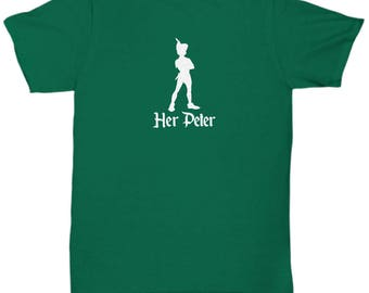 Disney Her Peter Pan Gift Shirt His Wendy Tinkerbell Tink Couple Love Gifts Shirts