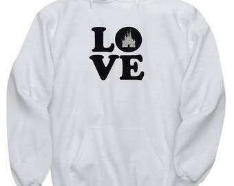 Love Magic Castle Hoodie Gift Fan Glitter Fanatic Magical Mouse Kingdom Sweatshirt