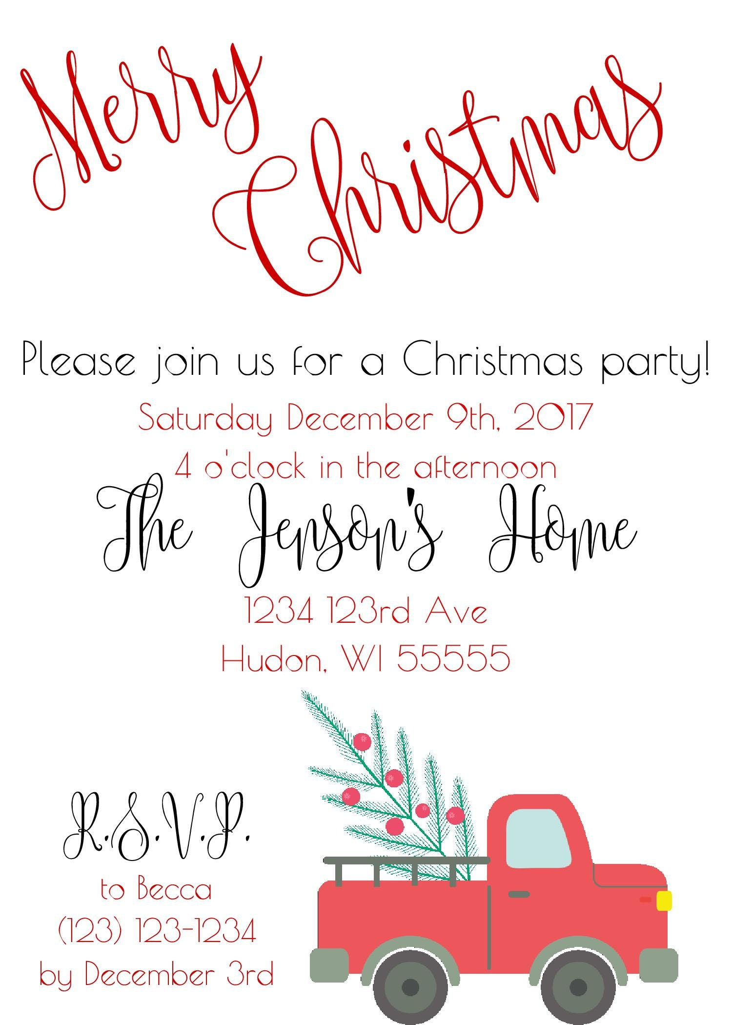 Christmas Party Invitation - DIY Christmas Party - Christmas ...