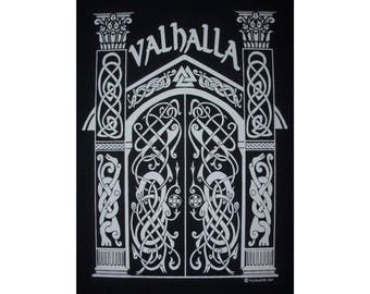Valhalla Norse Heathen Viking Hall of the Fallen Rune T-Shirt WH Closeout