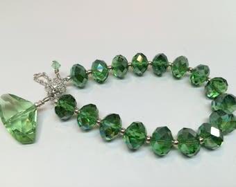 Emerald Green Crystal Bracelet