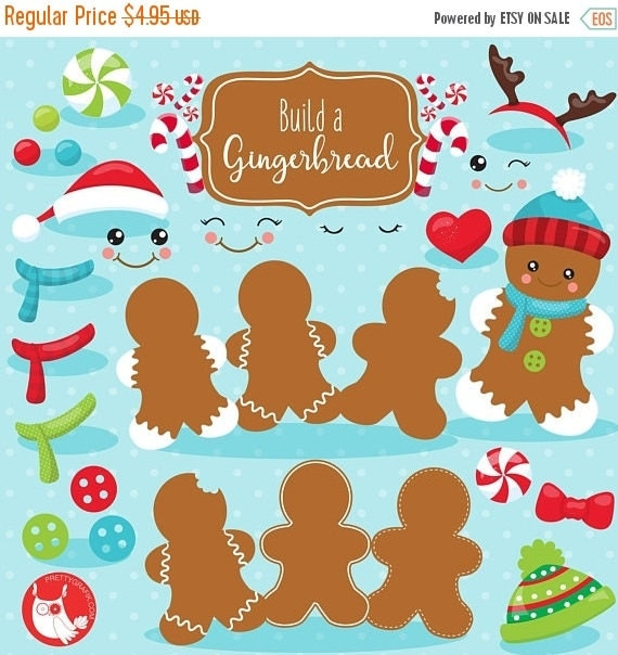 80 off sale build a gingerbread man clipart commercial use il570xn voltagebd Image collections