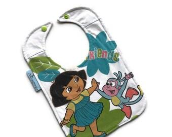 Dora the Explorer Baby Bib • Baby Shower Gift • Tee Shirt Bib • Baby Girl Gift