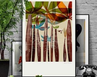 Salesman. Signed illustration art poster giclée print.