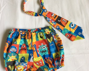 Boys Colorful monster  cake smash   set,12 months.Ready to ship