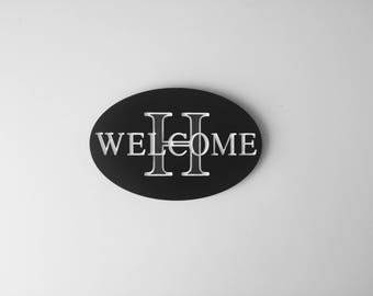 Welcome Sign/ Engraved Wood Sign/ Personalized Gift
