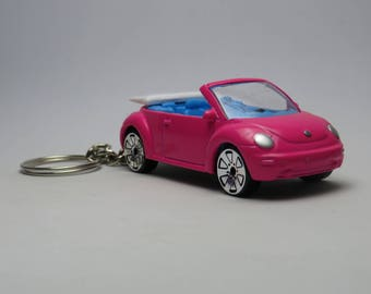 """Volkswagen New Beetle Bug Cabriolet Free Shipping Birthday and anniversary gift Key Chain 3"""" Collectible Metal Diecast Scale Model Sport Car"""