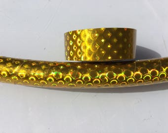 "3/4"" Gold Peacock Hula Hoop Tape"