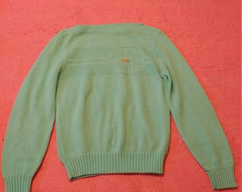 Vintage 1970s/80s Lacoste light blue/green XS/S sweater