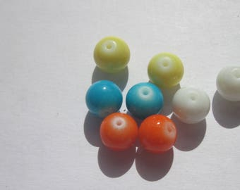 8 colors (PV29) 8mm glass pearls