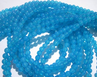 12 blue 4 mm (11-8) colorful agate beads