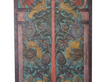 Tree OF Dreams Vintage Hand Carved Indian Door Farm House Eclectic Decor FREE SHIP Early Black Friday