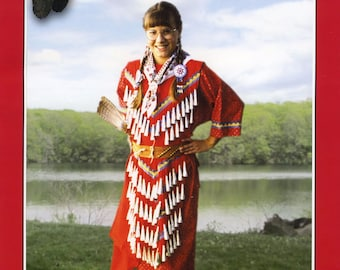 Child's Native American Indian Jingle Dress - Girls' sizes S-XL - Missouri River Sewing Pattern # 203