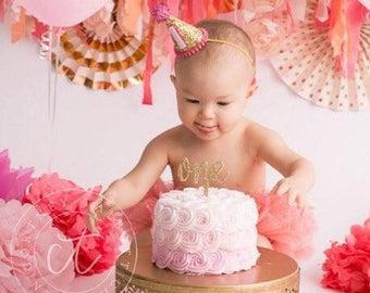 Half Birthday, Six Months, Half, Sixers Hat, Party Hat Six Months Photo Prop Cone Hat Glitter Birthday Headband