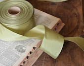 2 yards of wide willow green wired ribbon